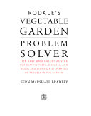 Book cover of Rodale's vegetable garden problem solver : the best and latest advice for beating pests, diseases, and weeds and staying a step ahead of trouble in the garden