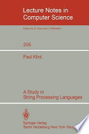 A study in string processing languages