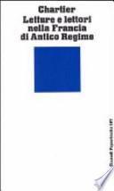 Letture e lettori nella Francia dell'Antico Regime