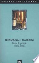 Tutte le poesie (1951-1998)