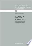 Capitale e Reddito - Operazioni di gestione e dinamica dei valori