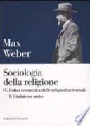 SOCIOLOGIA DELLA RELIGIONE - IV. L'etica economica delle religioni universali - Il Giudaismo antico