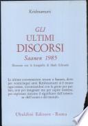 Gli ultimi discorsi Saanen 1985