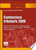 Contenzioso tributario 2009 Santi Di Paola, N.