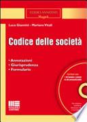 Codice delle società. Con CD-ROM Giannini, Luca and Vitali, Mariano