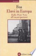 Ebrei in Europa dalla peste nera all'emancipazione