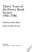 Thirty years of the Poetry Book Society 1956-1986