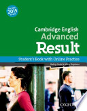cambridge advanced result. student's book with online practise