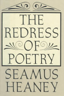 Book cover of The redress of poetry