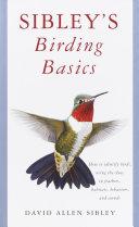 Book cover of Sibley's birding basics
