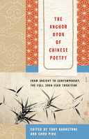 Book cover of The Anchor book of Chinese poetry