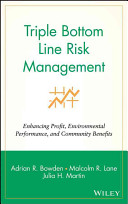 Triple bottom line risk management