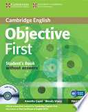 Objective First Student's Book Without Answers with CD-ROM