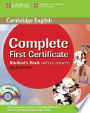 Complete First Certificate. Student's Book without answers