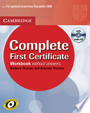 Complete First Certificate Workbook with Audio CD