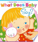 What does baby say?