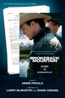 Book cover of Brokeback Mountain : story to screenplay
