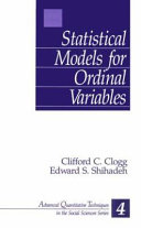 Statistical models for ordinal variables