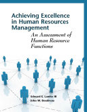 Achieving excellence in human resources management