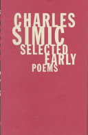 Book cover of Selected early poems