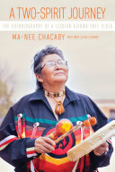 A two-spirit journey : the autobiography of a lesbian Ojibwa-Cree elder cover, picture of an indigenous person with orange text