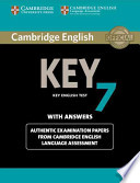 Cambridge English Key 7 Student's Book with Answers Authentic Examination Papers from Cambridge English Language Assessment