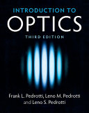 Book cover of Introduction to optics