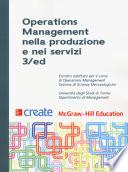 OPERATIONS MANAGEMENT NELLA PRODUZIONE E NEI SERVIZI 3/ED