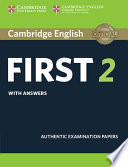Cambridge english first. Student's book with answers.