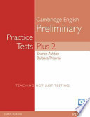 PET Practice Tests Plus 2 Book with CD-ROM