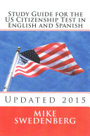 Book cover of Study guide for the US citizenship test in English and Spanish