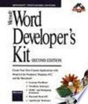 Microsoft WORD Developer's Kit Second Edition Version 6.0 + 2 Floppy Disk 3.5