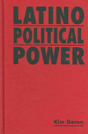 Book cover of Latino political power