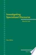 Investigating Specialized Discourse