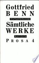 Sämtliche Werke Bd. 6 Prosa 4