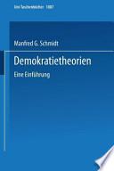 Demokratietheorien Eine Einführung