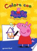Colora con Peppa Pig . Hip hip urrà per Peppa!