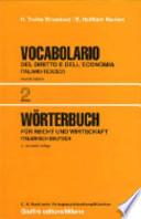 Vocabolario italiano-tedesco del diritto e dell'economia vol.2, Seconda edizione