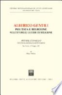 Alberico Gentili, politica e religione nell'età delle guerre di religione
