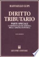 Diritto tributario. Parte speciale. La determinazione giuridica della capacità economica