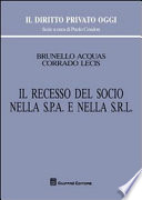 IL RECESSO DEL SOCIO NELLA S.P.A. E NELLA S.R.L.