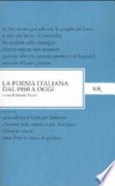 POESIA ITALIANA DAL 1960 A OGGI