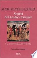 STORIA DEL TEATRO ITALIANO (COF. 2VOLL.)