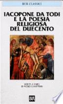 JACOPONE DA TODI E POESIA RELIGIOSA DEL DUECENTO