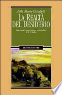 La Realtà del Desiderio. Saggi Morali, Teoria Estetica e Prosa Politica di P. B. Shelley