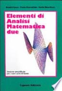 Elementi di analisi matematica due
