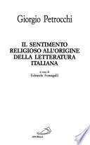 Il Sentimento religioso all'origine della letteratura italiana