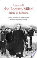 Lettere di don Lorenzo Milani priore di Barbiana