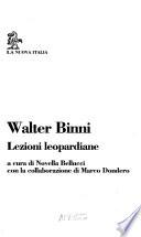 Lezioni Leopardiane