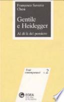Gentile e Heidegger al di là del pensiero